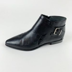 7 For All Mankind Buckle Black Ankle Booties Women